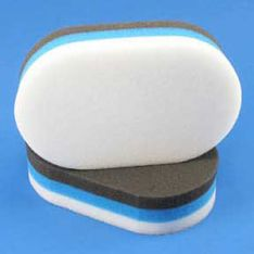 "6"" Tri-foam Oval Zaino Applicator"